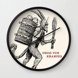Gruss vom Krampus Wall Clock