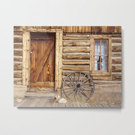 Log Cabin - Fairplay, Colorado Metal Print