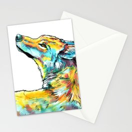 Gentle Wolf - animal painting sketch Stationery Cards