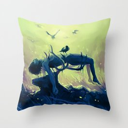 Hannibal death scene - Minnesota Shrike Throw Pillow