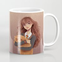 hermione Mugs featuring Hermione by C. Cassandra