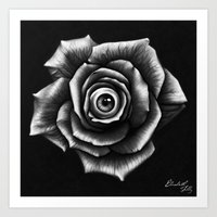 Eyeball Rose Art Print
