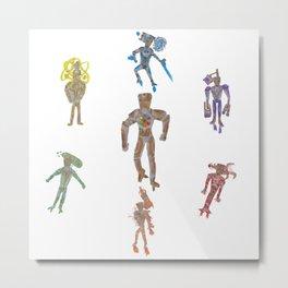 Iron Man - Infinity Stone Suits Metal Print