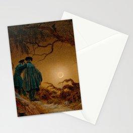 Caspar David Friedrich - Two Men Contemplating the Moon Stationery Cards