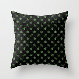 All over print for cannabiznoids leggings Throw Pillow