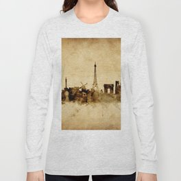Paris France Skyline Long Sleeve T-shirt