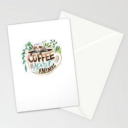 Coffee is my spirit animal Stationery Cards