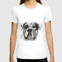 bulldog T-shirts featuring Bulldog by Danguole Serstinskaja