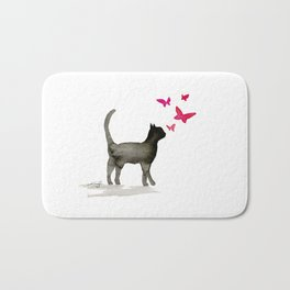I Love Cats No. 3a by Kathy Morton Stanion Bath Mat