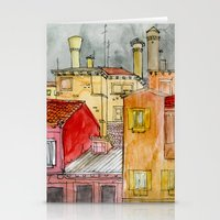 italian Stationery Cards featuring Italian Street by Bunny Noir