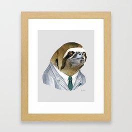 Sloth print Framed Art Print