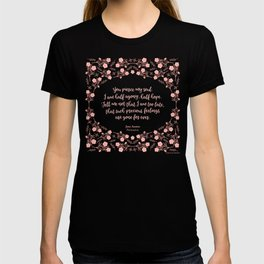 Jane Austen Persuasion Floral Love Letter Quote T-shirt