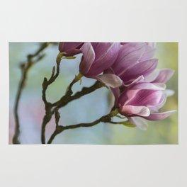 Pink Soulange Magnolia Rug