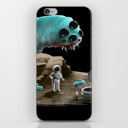 Space worm iPhone Skin