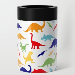 Colorful Dinosaurs Pattern Can Cooler