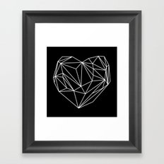 Heart Graphic (Black) Framed Art Print