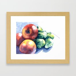 Apples and Sprouts Framed Art Print