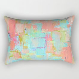 Coral Coterie Rectangular Pillow