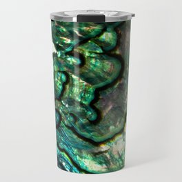 Shimmering Green Abalone Mother of Pearl Travel Mug