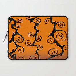 Purple Orange and Black Nightmare Before Christmas Inspired Swirls Laptop Sleeve