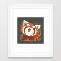 red panda Framed Art Prints featuring Panda by Toru Sanogawa