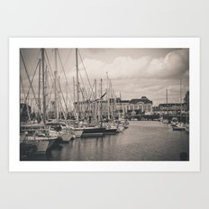 Casino at the harbor Art Print
