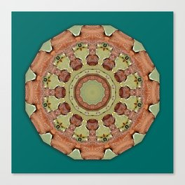 Colors of Rust / mandala-style-rust Canvas Print