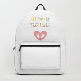Womens Pregnancy Announcement design Due November 2019 Backpack