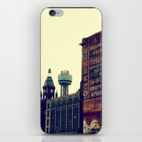 dallas iPhone & iPod Skins featuring DALLAS GHOSTS by Johnny Cashley