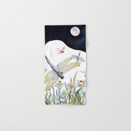 Good Night Surreal Dragonfly Artwork Hand & Bath Towel