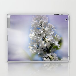white lilac on textured background -a- Laptop & iPad Skin