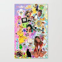 90s Canvas Prints featuring 90s, childhood. by eriicms