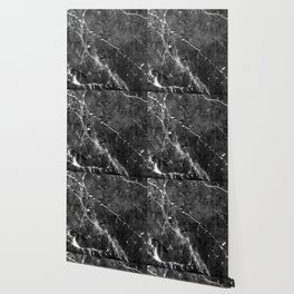 Black Gray Marble #1 #decor #art #society6 Wallpaper