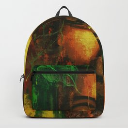 Abstract Lord Buddha Face Backpack