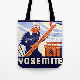Yosemite Winter Sports Travel Tote Bag