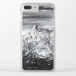 Snow Storm Clear iPhone Case