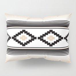 Modern Mexican Serape in Tan Pillow Sham