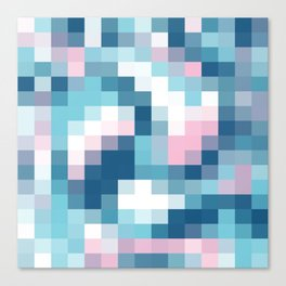 Mat Map Squares Aqua Canvas Print