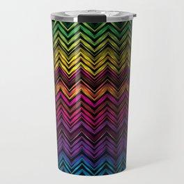 Neon Chevron Travel Mug