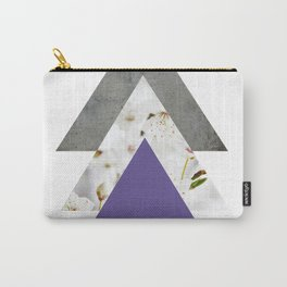 Ultra Violet Blossoms Arrows Carry-All Pouch