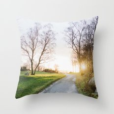 Sunset Norway Throw Pillow
