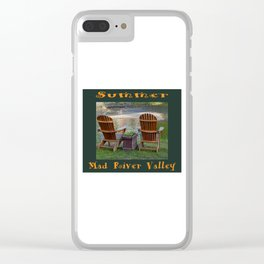 Summer By the River in the Mad River Valley, Vermont Clear iPhone Case