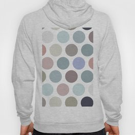 Polka dot pattern. Pastel color dot on white background Hoody
