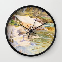 """John Singer Sargent """"Lake Garda"""" Wall Clock"""