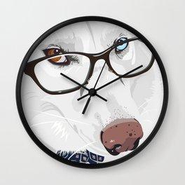 The Smartest Siberian Husky Wall Clock