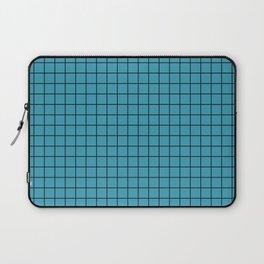 Teal with Black Grid Laptop Sleeve