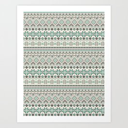 V40 Boho Vintage Anthropologie Pattern Art Print