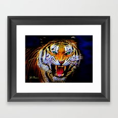 Fearless Tiger 2 Framed Art Print