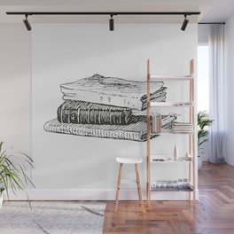 Books 3 Wall Mural