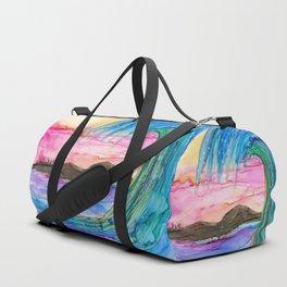 Vibrant Wave Duffle Bag